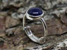 Load image into Gallery viewer, Blue Sapphire Ring - Sterling Silver - Adjustable Size  - Joy#187