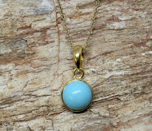 Load image into Gallery viewer, turquoise gold pendant