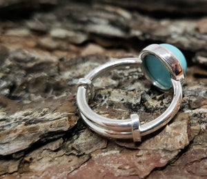 Turquoise Ring - Sterling Silver - Adjustable Size  - Joy#181