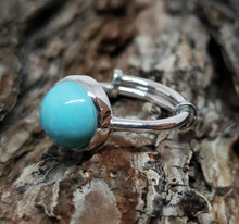 Load image into Gallery viewer, Turquoise Ring - Sterling Silver - Adjustable Size  - Joy#181