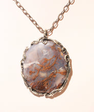 Load image into Gallery viewer, Blue Chalcedony Silver Pendant