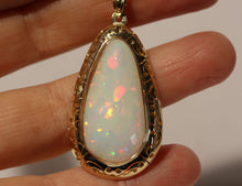Load image into Gallery viewer, White Opal Pendant - 14k Yellow Gold   #1446