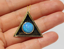 Load image into Gallery viewer, Opal  Triangle Pendant - 14k Gold  #1478