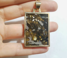Load image into Gallery viewer, Pallasite Meteorite Pendant 14k Gold -Russian Meteorite Necklace