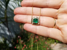 Load image into Gallery viewer, Emerald & Diamond Pendant - 14k Gold #1517