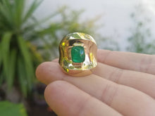 Load image into Gallery viewer, Gold Emerald Ring 14k Gold -  Size 7 - #1514