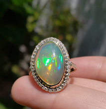 Load image into Gallery viewer, Opal Diamond Gold Ring