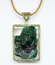 Load image into Gallery viewer, Emerald & Tsavorite Pendant - 14k Gold