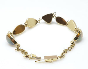 Colorful Opals Bracelet - 14k Gold #1627