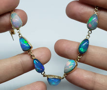Load image into Gallery viewer, Colorful Opals Bracelet - 14k Gold #1627