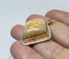 Load image into Gallery viewer, Opal & Diamond Pendant 14k Gold