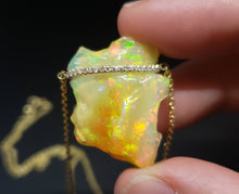 Load image into Gallery viewer, Carved Opal Pendant 14k Gold