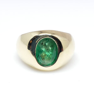 Mens Emerald Gold Ring