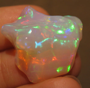 Unique Opal Carving- Bright and Colorful 18.5 Carats #290