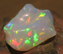 Load image into Gallery viewer, Unique Opal Carving- Bright and Colorful 18.5 Carats #290