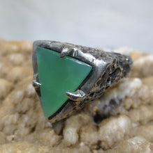 Load image into Gallery viewer, Sterling Silver Ring Size 7 - Natural Chrysoprase  #1217