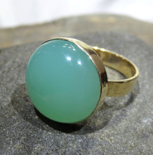 Load image into Gallery viewer, Chrysoprase Ring - 14k Gold  #1226