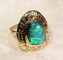 Load image into Gallery viewer, Green Opal Ring 14k Gold - Size 7.5 - Custom Gemstone Jewelry #1310