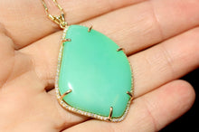 Load image into Gallery viewer, Chrystoprase Pendant - 14k Gold #1245