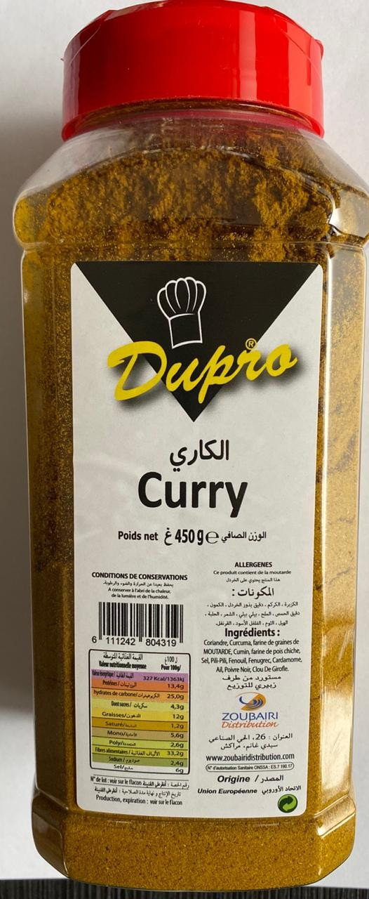 Curry Dupro 450g