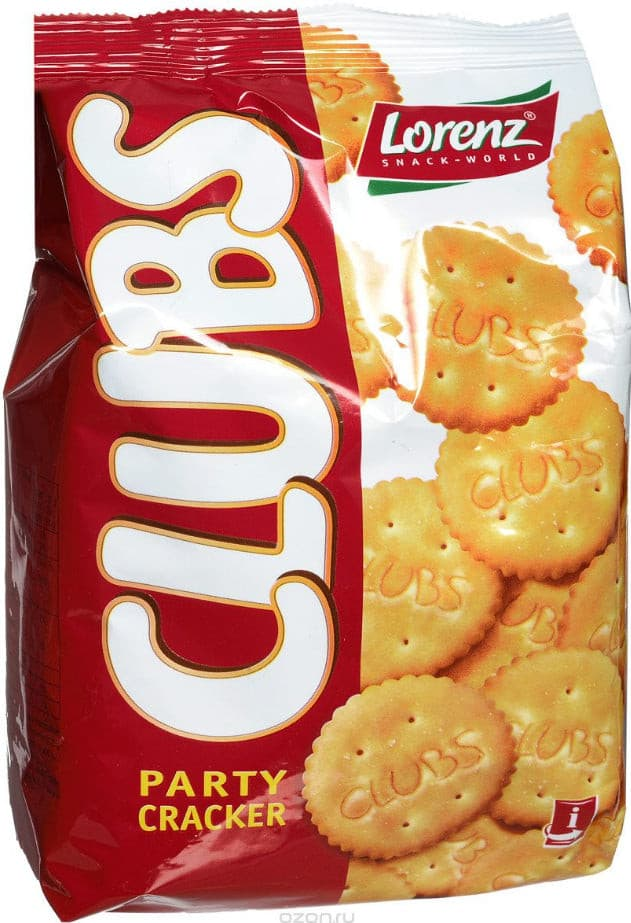 Biscuits Cracker Clubs Party Lorenz 150g