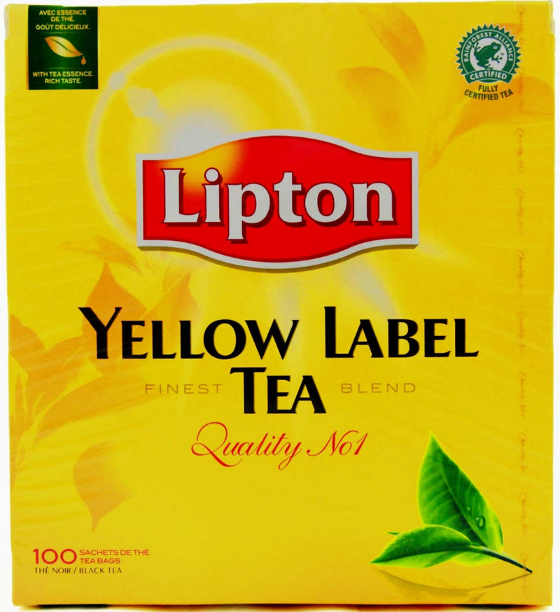 Thé Noir Lipton Yellow Label Tea 100 Sachets