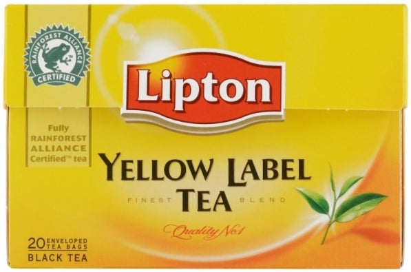 Thé Noir Lipton Yellow Label Tea 25 Sachets