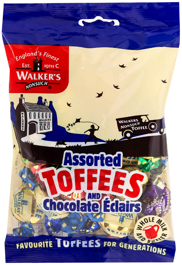Bonbons Assortis Toffees et Chocolat Eclairs Walker's 150g