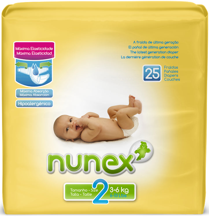 25 Couches Mini Nunex T2 (3 - 6kg)