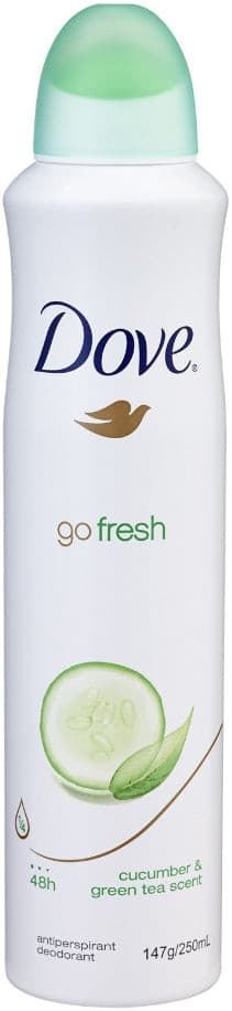 Déodorant Anti-Transpirant Body Spray Go Fresh Dove 200ml