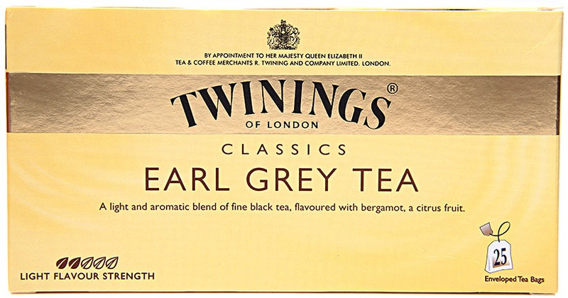 Thé Earl Grey Twinings of London 25 sachets