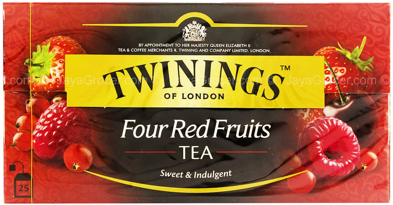 Thé 4 Fruits Rouges Twining of London 25 sachets