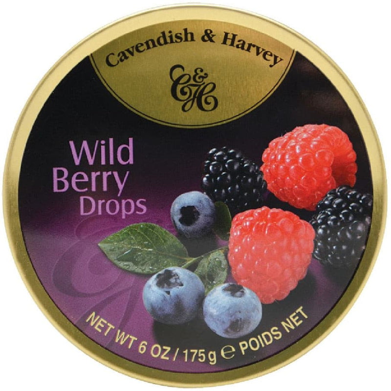 Bonbons Wild Berry Drops Cavendish & Harvey 175g