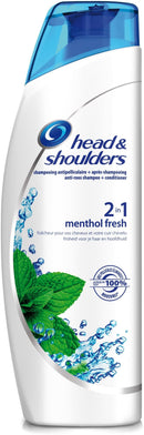 Shampooing Fraîcheur Menthol  Head & Shoulders 400ml