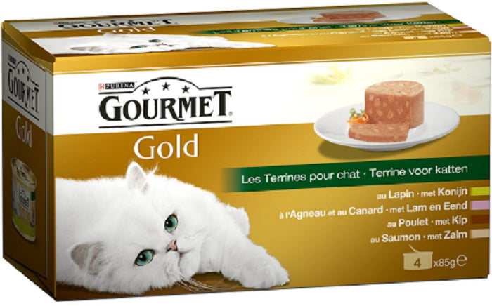 Purina Gourmet Gold Terrines 4x85g