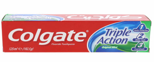 Dentifrice Triple Action Original Menthe 3 Colgate 125 ML