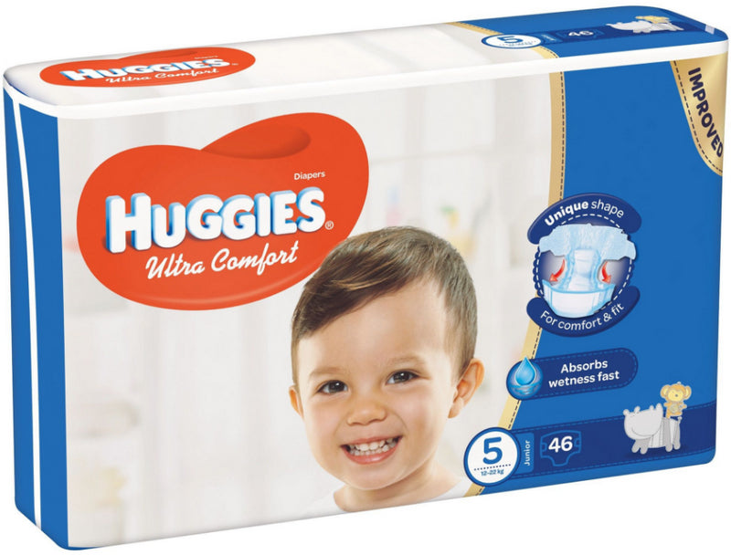 46 Couches Junior Huggies T5 (12 - 22kg)
