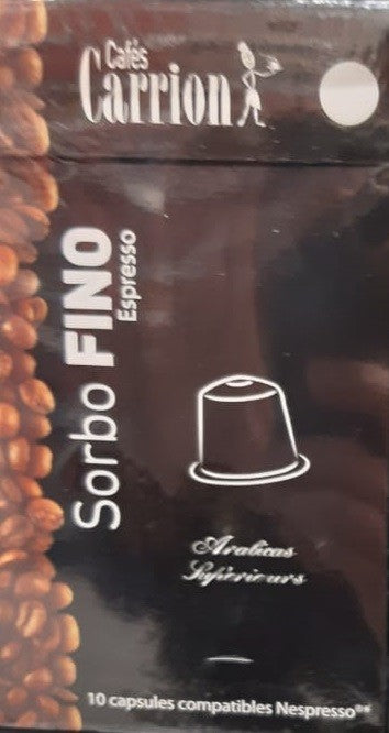 Pack 10 Capsules  Sorbo Fino Café Carrion