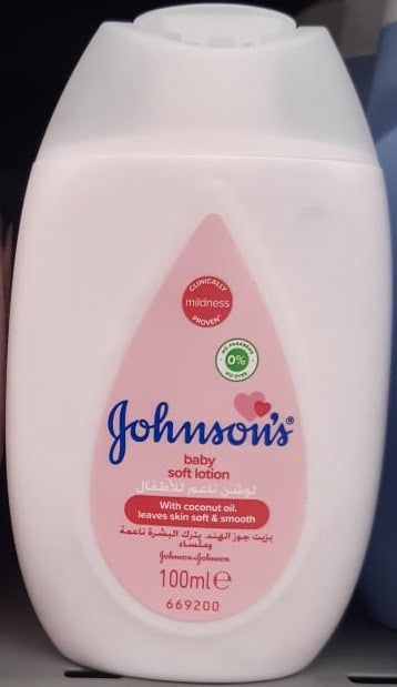 Lait de Toilette Soft Johnson's  100ml