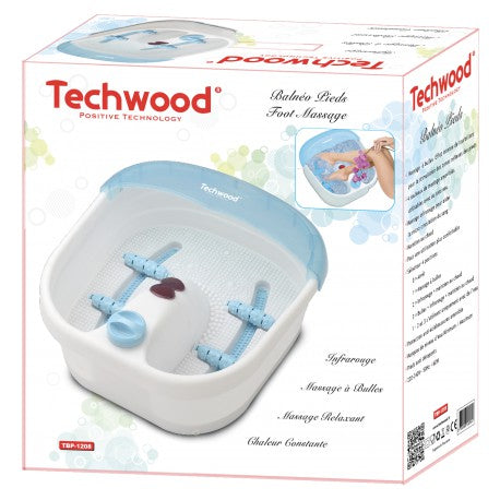 Balneo Pieds Techwood - Massage à bulles, Rouleaux, Massage infrarouge, Maintien au chaud