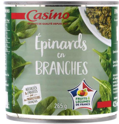 Epinards En Branches  Casino  380 g