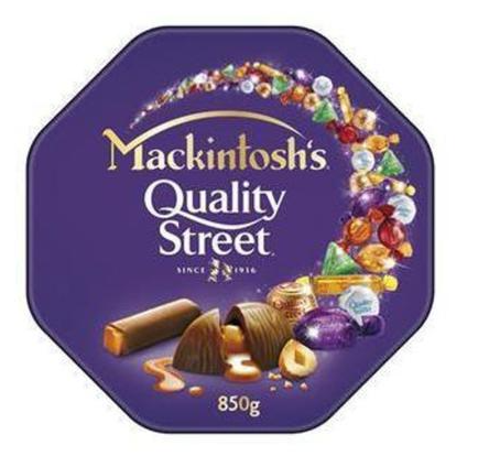 Coffret de Chocolat et Bonbons  Mackintosh's Quality Street 850g