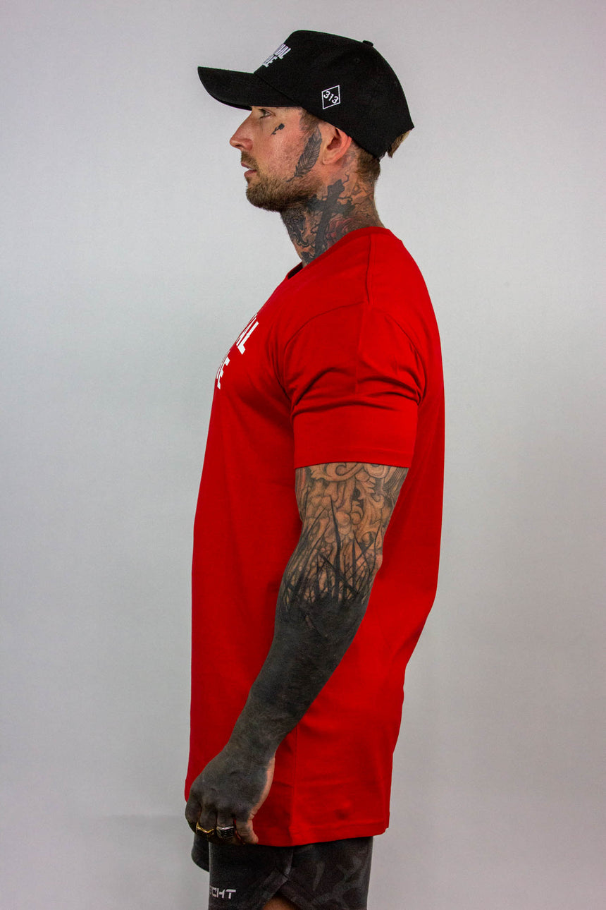 Mens Arch Logo Tee - Red/White