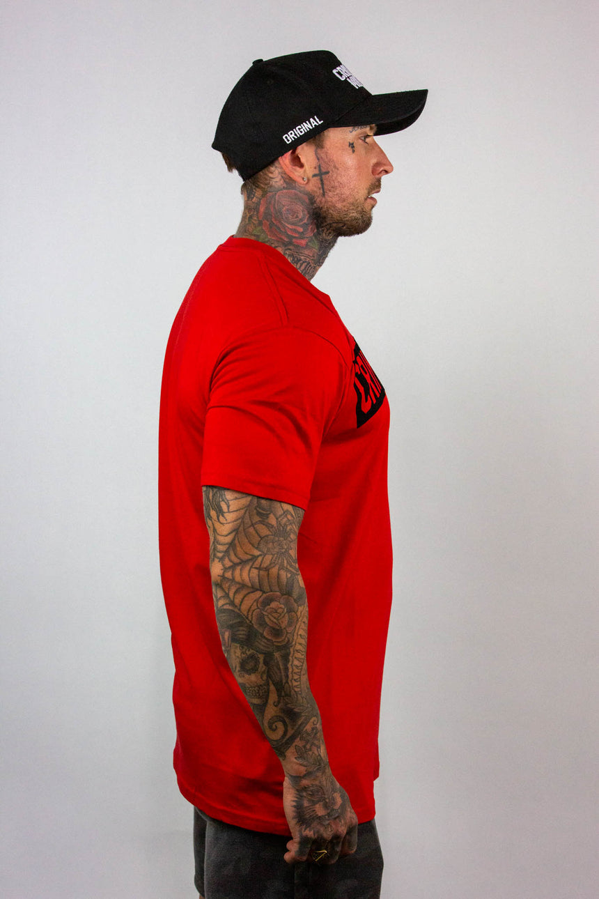 Mens Harley Tee - Red/Black