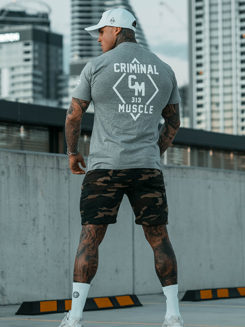 Mens Diamond Tee - Grey