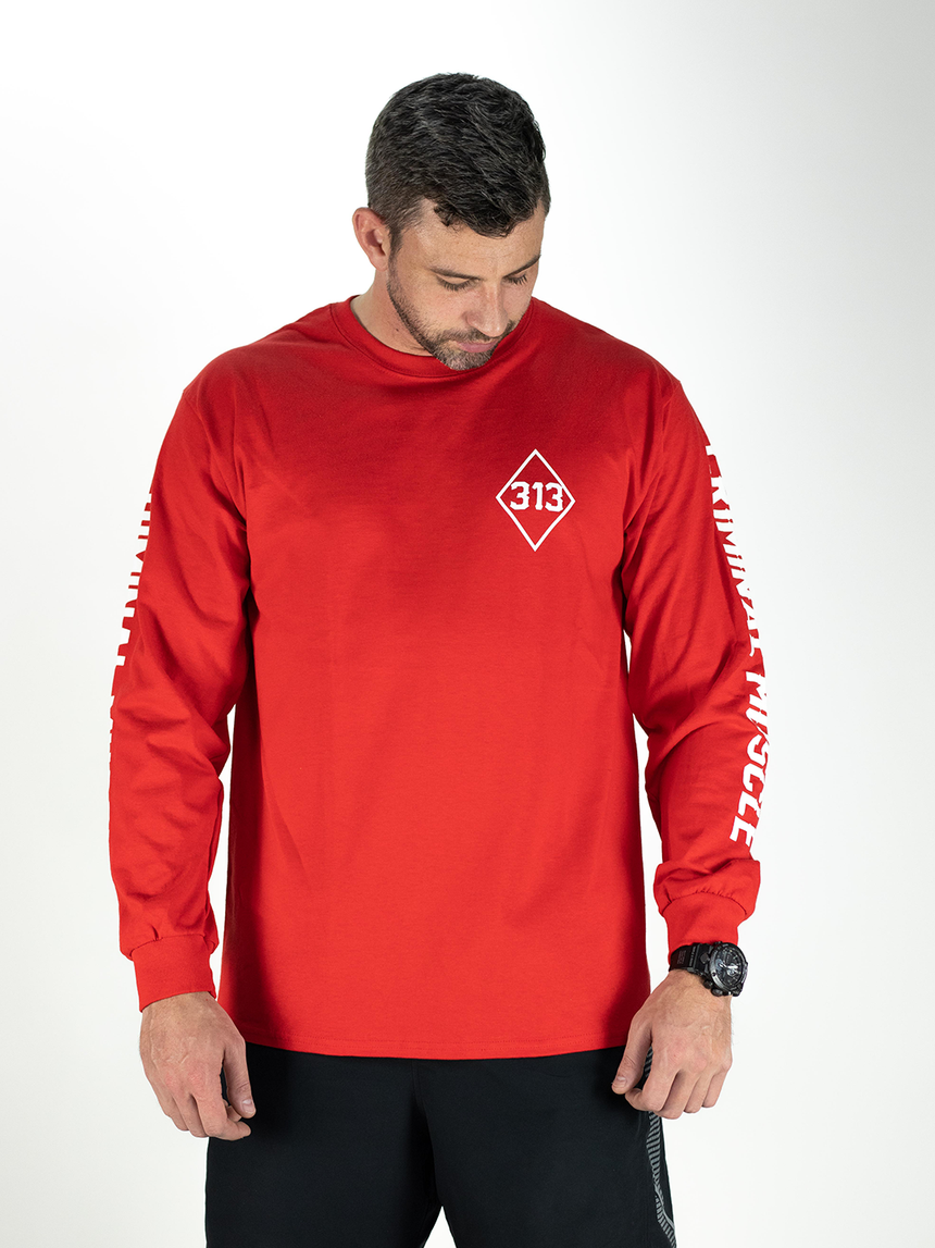 Mens L/S Legacy Tee - Red