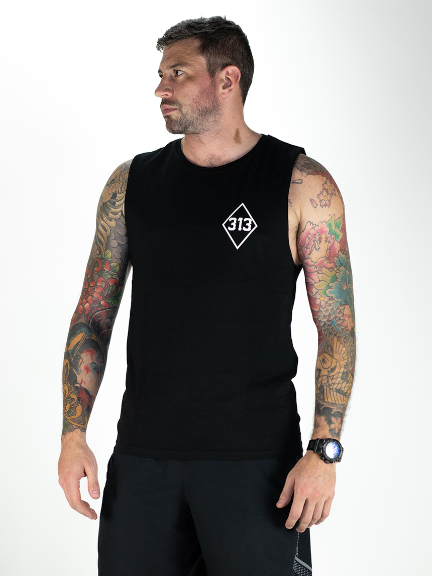Mens Diamond Tank - Black
