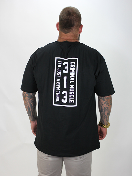 Mens 313 Stamp Tee - Black