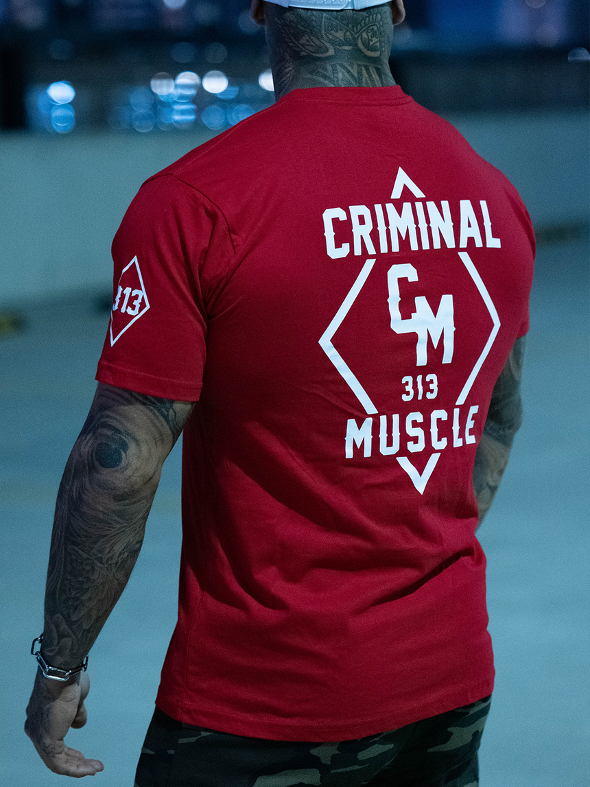 Mens Diamond Tee - Red