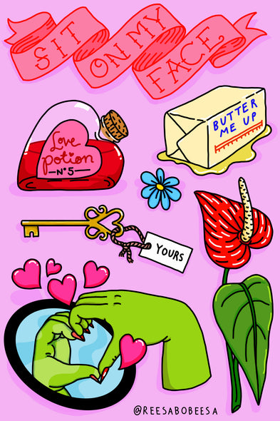 Lusty Sticker Sheet